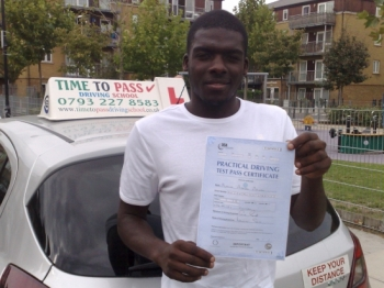 My experience of learning to drive with Time to Pass Driving School was fun and efficient I was challenged and pushed by Rahman which I feel helped me to pass first time He has a brilliant method of teaching and he is a brilliant person I would recommend him to anyone cheers<br />