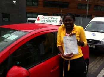 I passed my driving test today. 