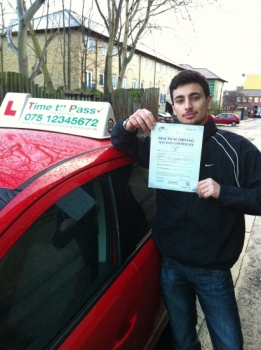 I have just passed my driving test with Gulzar, and I would recommend Time To Pass Driving School, to anyone!! Thank you very much for everything!! ...