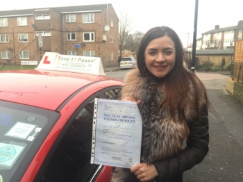 I want to say thanks to my instructor Gulzar he was recommended by friends who passed test as well for taking the time and helping me to pass my driving test Furthermore I really appreciate your patience as I understand how difficult it is to get a driving license in London Once again thank you for all your professional skills which have helped me to achieve my goal